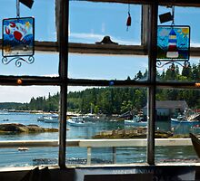 Stonington Maine Through a Shop Window by MarkEmmerson