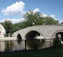 Mineral Palace Park Bridge by Carl M. Moore