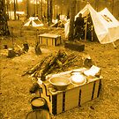 Civil War camp by Larry  Grayam