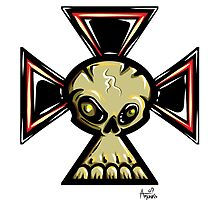 Iron Cross Skull by trickmonkey