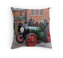 """""""Trevor"""" The Traction Engine Throw Pillow"""