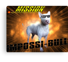 Impossi-Bull! Canvas Print