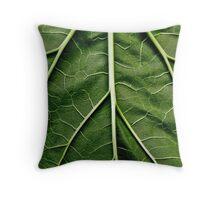 Rhubarb leaf Throw Pillow