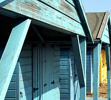 Beach Huts by Wayne Gerard Trotman