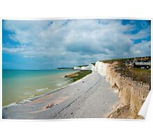 Seven Sisters from Birling Gap: East Sussex, UK Poster