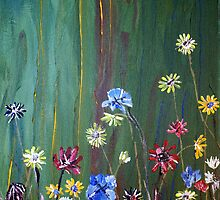 'Flowers on Green' by Vic Potter
