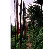 lungta, prayer flags. northenr sikkim, india Photographic Print