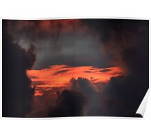 Sunset In The Clouds Poster