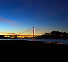 A Golden Sunset by Jonathan Parrish
