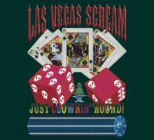 Evil Clown T Shirt Las Vegas Royal Flush by bear77