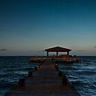 Last rays on the deck chairs by Karel Kuran