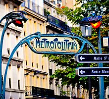 Metro entrance by Pat Shawyer