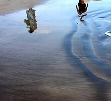 Reflection... walking in the sand... by Haydee  Yordan