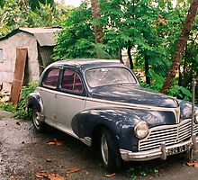 Martinique, country house car need repairs by Jerry Clitty