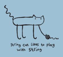 String Cat Plays With String by lauriepink