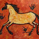 Modern Primitive Horse and Hands  by carolsuzanne