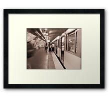 The Paris Metro Framed Print