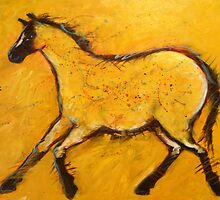 Huge Primitive Yellow Horse  by carolsuzanne