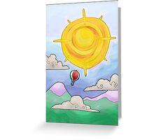 hot air balloon... Greeting Card