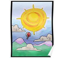 hot air balloon... Poster
