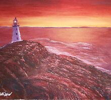 Lighthouse in Cape Spear Newfoundland by Allison  Prior