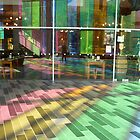 Palais des Congrès: rainbowed floors by Yonmei