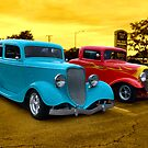 """1933 Ford """"Vicky"""" and 1932 Ford 3 Window Coupe by TeeMack"""