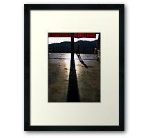 temple time. mcleod ganj, india Framed Print