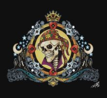 Pirate King Skull with hearts and a crown by Al Rio! by alrioart