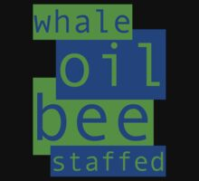 Whale Oil - Blue & Green by Ron Marton