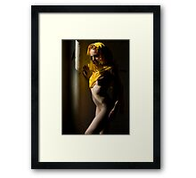 Ivory Flame Yellow 2 Framed Print