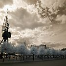 Docklands in IR by Pepperkayn