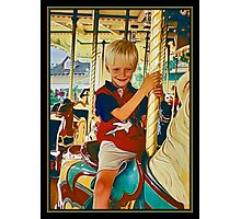 Carousel Cowboy Photographic Print