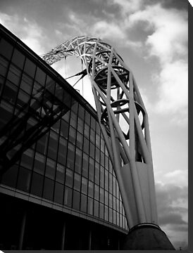 Wembley Stadium - Arch (Black & White) by Tom Clancy