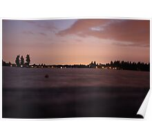 Sundown at Lake Tapps Poster