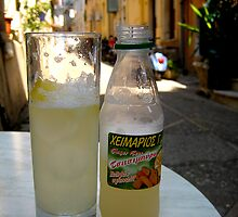 Ginger Beer in Corfu Town Greece by Keith Richardson