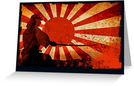 Samurai Sun – Greeting Card by Naf4d