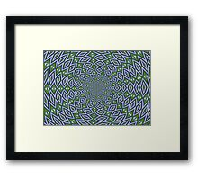 Eternity in Sap Green and Lilac Framed Print