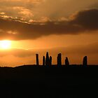 Sunset on the Stone Circle  by John Nelson Photography