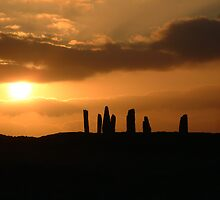 Sunset on the Stone Circle  by John Nelson