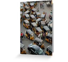 YELLOW AUTOCABS OF HYDERABAD Greeting Card