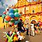 The Zocalo in San Cristobal de las Casas in Chiapas Mexico by Alex  Bramwell