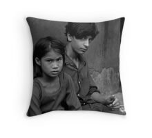 THE ANGRY YOUNG LADY Throw Pillow