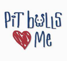 Pit Bulls Love Me (Light Colors) Kids Clothes
