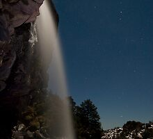 Taranaki Falls in the Freezing Night by Michael Treloar