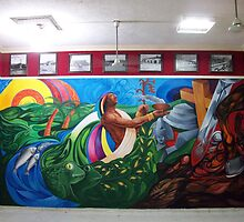 "MURAL ""TEMPOAL HISTORY AND TRADITION"" by Ehivar Flores Herrera"