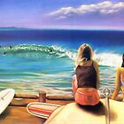 surfing wategos Byron Bay by maria paterson