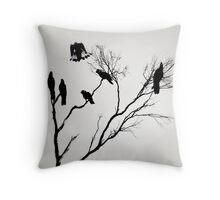 Black Cockatoos Throw Pillow