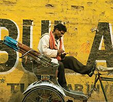 bicycle taxi, Varanasi by 945ontwerp