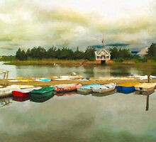 Boat House by Michael  Petrizzo
